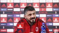 Gennaro Gattuso tak terlalu memikirkan kontraknya sebagai pelatih AC Milan. (Twitter/AC Milan)