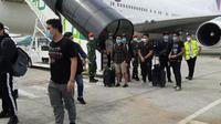 16 ABK Asal Madrid tiba di Bandara Soekarno-Hatta. (Liputan6.com/Pramita Tristiawati)