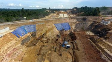 Proyek pembangunan jalan tol Balikpapan-Samarinda yang akan menjadi cikal bakal dari tol Trans Kalimantan. (Dok Jasa Marga)