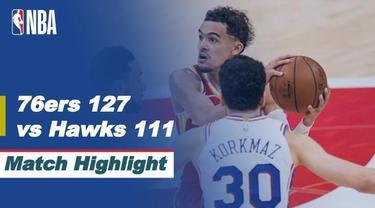 Berita video highlights kemenangan Philadelphia 76ers atas Atlanta Hawks pada game 3 semifinal wilayah timur NBA Playoffs 2021, Sabtu (12/6/2021) pagi hari WIB.
