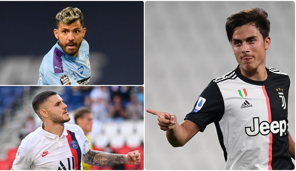 Lionel Messi menjadi pemain Argentina yang banyak diminati klub besar Eropa. Namun, bintang Barcelona ini tidak masuk dalam daftar pemain Argentina yang memiliki catatan transfer termahal. Berikut 7 transfer pemain Argentina termahal sepanjang masa. (kolase foto AFP)