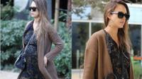 Intip gaya stylish Jessica Alba meski sedang hamil yang bisa Anda jadikan inspirasi berikut ini. (Foto: instagram.com/@justjared)