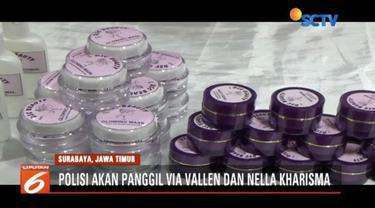 Pada Rabu, 12 Desember Polda Jawa Timur akan panggil Via Vallen dan Nella Kharisma jadi saksi kasus kosmetik oplosan di Kediri.