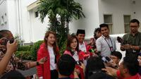 PSI menyambangi Presiden Jokowi di Istana Kepresidenan (Liputan6.com/ Hanz Jimenez Salim)