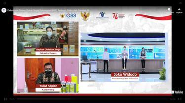 Peresmian Aplikasi One Single Submission (OSS) oleh Presiden Joko Widodo.