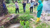 Lokasi penemuan jenazah pengusaha rental mobil di Kabupaten Siak. (Liputan6.com/M Syukur)