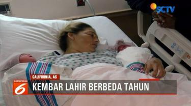 Sepasang bayi kembar di California, Amerika Serikat, tercatat memiliki tanggal lahir berbeda lantaran dilahirkan jelang pergantian tahun.