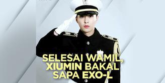 Xiumin EXO Selesai Wamil dan Bakal Sapa EXO-L di V LIVE