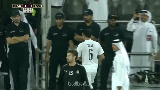 Xavi Hernandez diganjar kartu merah saat Al-Sadd menyerah 2-1 dari Al-Duhail pada final Piala Qatar usai memprotes keras keputusan...