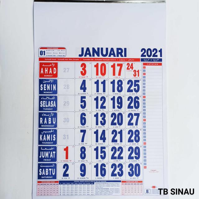 Daftar Harga Kalender Jawa 2020 Bulan April 2021 Terbaru