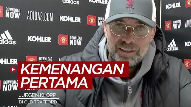Berita video komentar Manajer Liverpool, Jurgen Klopp, setelah meraih kemenangan pertamanya atas Manchester United di Old Trafford bersama The Reds di Liga Inggris.