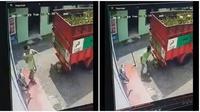 Pemuda ini mengalami hal yang tak terduga ketika memuat tabung gas LPG (Sumber: Twitter/Diiomaulanaa)