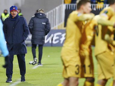 AS Roma menelan kekalahan memalukan saat bertandang ke markas Bodo/Glimt pada laga UEFA Conference League. (Mats Torbergsen/NTB Scanpix via AP)