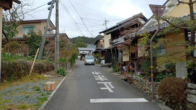 Jalanan di kawasan Uchiko (Liputan6.com/ Mevi Linawati)