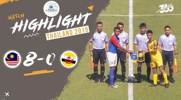 Berita video highlight Piala AFF U-15 2019 antara Malaysia melawan Brunei Darussalam yang berakhir dengan skor 8-0, Minggu (28/7/2019).