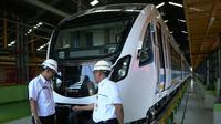 PT INKA (Persero) berencana melakukan pengujian kereta Light Rail Transit (LRT) Palembang, Sumatera Selatan. (Dok Kementerian BUMN)