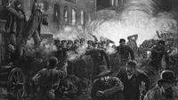 Kerusuhan Haymarket (Haymarket Riot) di Amerika Serikat yang melatarbelakangi Hari Buruh (Wikipedia/Public Domain)