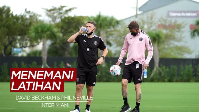 Berita Video David Beckham Menemani Latihan Perdana Phil Neville di inter Miami