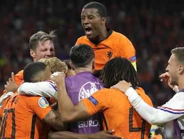 Foto Piala Eropa: Drama Lima Gol, Belanda Akhirnya Memenangkan Duel Sengit Melawan Ukraina pada Laga Grup C Euro 2020