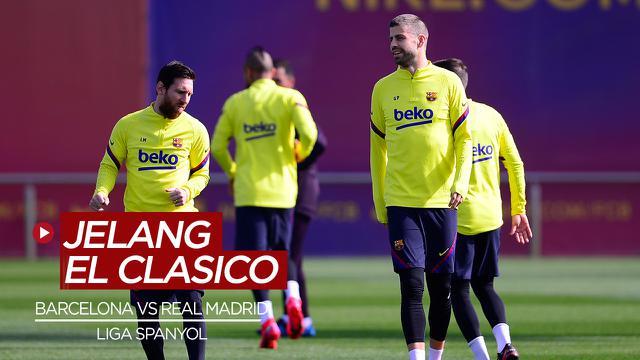Cover Mengintip Latihan Barcelona Vs Real Madrid Jelang El Clasico