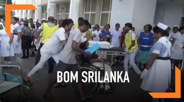 Ratusan korban berjatuhan dalam serangan teror bom di sejumlah lokasi di Sri Lanka hari Minggu (21/4). Petugas medis di rumah sakit bekerja keras tangani korban yang datang membludak.