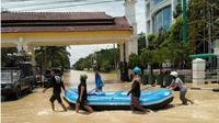 Banjir di Medan. (Liputan6.com/Reza Efendi)