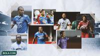 Kolase - Persib Bandung, Supardi, Victor Igbonefo, Made Wirawan (Bola.com/Adreanus Titus)