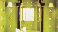Dekorasi kamar mandi serba hijau