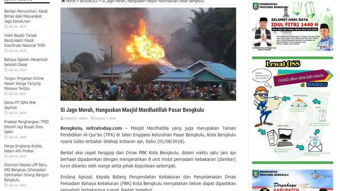 [Cek Fakta] Beredar Foto Masjid Terbakar, Hoaks atau Fakta?