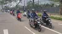 Media test ride Suzuki Nex II dengan rute Jakarta-Tangerang. (SIS)