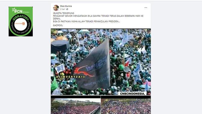 Cek Fakta Liputan6.com menelusuri klaim foto ibu kota terkepung