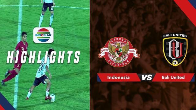 Berita video peluang-peluang emas yang tercipta pada laga uji coba Bali United melawan Timnas Indonesia yang berakhir dengan skor 0-0, Jumat (14/6/2019).