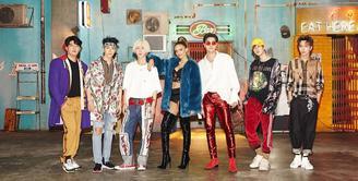 Baru-baru ini Super Junior baru saja comeback di dunia musik K-pop dengan merils single terbaru yang berjudul Lo Siento. Single terbaru mereka ini mempunyai nuansa musik latin. (Foto: instagram.com/superjunior)