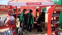 Grab menggelar Bazar Grab Benefits sebagai bentuk kepedulian Grab terhadap mitra pengemudi di Yogyakarta. (Liputan6.com/ Switzy Sabandar)