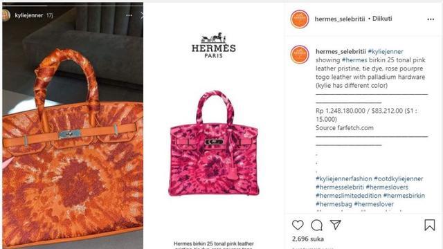 Motif Tas Hermes Terbaru Kylie Jenner Disebut Mirip Daster