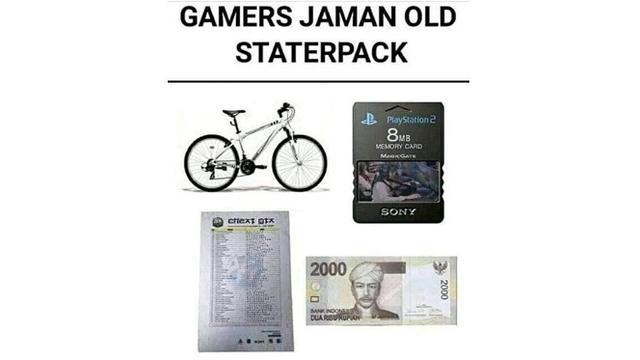 6 Starter Pack Anak Zaman Dahulu Ini Bikin Nostalgia (sumber: Instagram.com/receh.id)