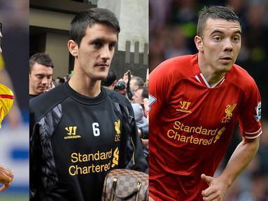 Banyak pemain yang menctatakan sejarah bersama Liverpool. Diantaranya Xabi Alonso, Pepe Reina dan Luis Suarez. Namun taidak sedikit juga pemain yang gagal di Liverpool namun sukses menjadi bintang usia keluar dari Anfield. (Kolase foto AFP)