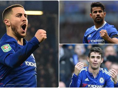 Chelsea menjadi salah satu klub yang banyak berbelanja pemain pada bursa transfer musim panas ini. Selain banyak membeli pemain, Chelsea juga pandai dalam menjual pemainnya. Berikut 5 penjualan termahal Chelsea. (kolase foto AFP)
