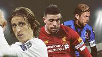 Luka Modric, Jordan Henderson dan Alejandro Dario. (Bola.com/Dody Iryawan)