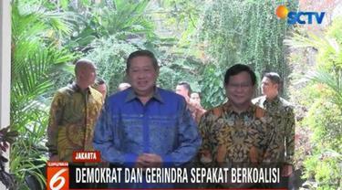 Setelah SBY dan Prabowo lakukan pertemuan lebih dari 2 jam, Partai Demokrat dan Gerindra sepakat untuk berkoalisi di Pilpres 2019.