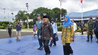 Wapres Ma'ruf Amin dan Ibu Wury Ma'ruf Amin bertolak ke Bangka Belitung, Rabu (26/2/2020). Wapres akan membuka Kongres Umat Islam Indonesia VII Tahun 2020. (Ist)