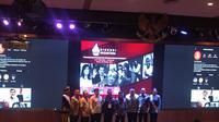 Mantan Wakil Presiden Jusuf Kalla (JK) menghadiri undangan Gerakan   Satu Nusantara di Aula Lemhanas, Jakarta Pusat, Selasa (29/10/2019)   malam.