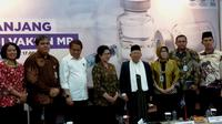 Ketua Umum MUI KH Ma'ruf Amin mengatakan, darurat imunisasi MR itu bukan dari MU tapi Kemenkes. (Liputan6.com/Fitri Haryanti Harsono)