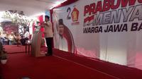 Prabowo Subianto di Garut (Liputan6.com/Jayadi Supriadin)