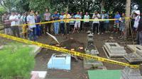 Pencurian kain kafan jenazah bayi di Martasinga, Cilacap, Jawa Tengah, Januari 2018. (Foto: Liputan6.com/Polres Cilacap/Muhamad Ridlo)