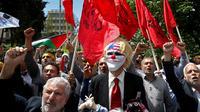 Aksi protes warga Iran terhadap Amerika Serikat, pda 6 Mei 2018 (AP/Ebrahim Noroozi)