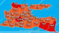 Tuban zona merah dan peta sebaran Covid-19 di Jawa Timur (Liputan6.com/Ahmad Adirin)