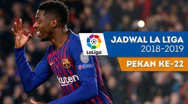 Berita video jadwal La Liga 2018-2018 pekan ke-22. Barcelona hadapi Valencia, Minggu (3/2/2019) di Camp Nou, Barcelona.