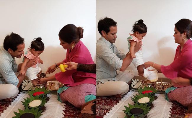 Anak bos Go-Jek melakukan tradisi Turun Tanah/copyright instagram.com/mamiehardo/gen