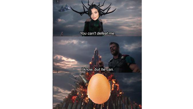 Kumpulan meme telur pecahkan rekor likes terbanyak di dunia, mampu lampaui akun Instagram Kylie Jenner. (Doc: Knowyourmeme)